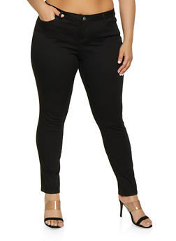 2220a7038b244 Plus Size WAX Basic Colored Skinny Jeans - 1870071610101