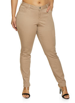 Plus Size WAX Basic Colored Skinny Jeans - 1870071610101