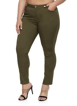 b5452498233 Plus Size WAX Basic Colored Skinny Jeans - 1870071610101