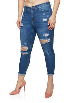 Plus Size WAX High Waisted Skinny Jeans - 1870071610120