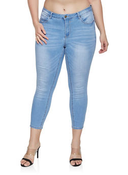 Plus Size WAX Push Up Jeans - 1870071610137