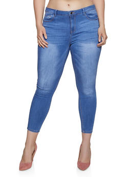 Plus Size WAX Whiskered Jeans - 1870071610142