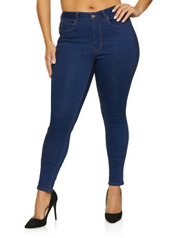 Plus Size WAX Basic Push Up Jeans - 1870071610210