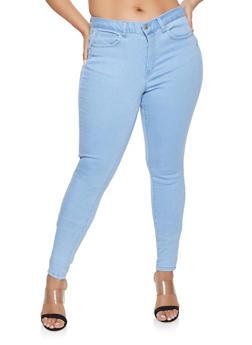 Plus Size WAX Basic Push Up Jeans - LIGHT WASH - 1870071610210
