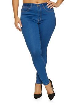 Plus Size WAX Basic Push Up Jeans - MEDIUM WASH - 1870071610210