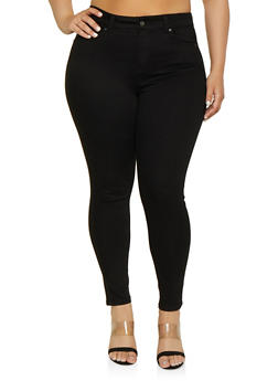 Plus Size WAX Basic High Waisted Push Up Jeans - 1870071610500