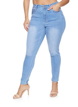 Plus Size WAX High Waisted Push Up Jeans - 1870071610500