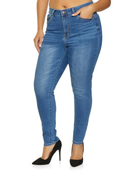 Womans Plus Size Jeans Stretch Waist