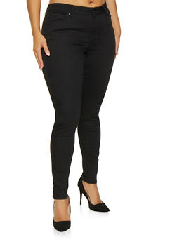 Plus Size Denim Skinny Jeans
