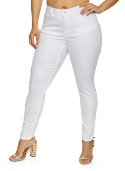 Plus Size WAX Skinny Jeans | Black - 1870071613101