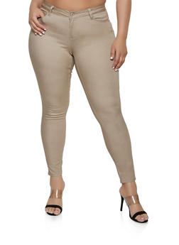Plus Size Khaki Jeans for Women
