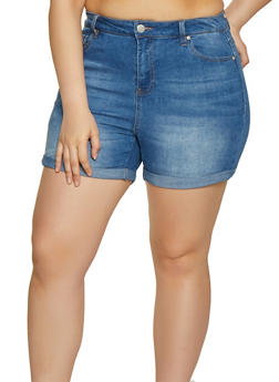 fbd3d86a9c0137 Plus Size Almost Famous High Rise Shorts - 1871015990321