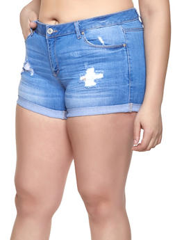 Plus Size Spandex Shorts for Women