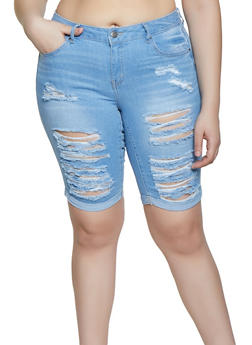 ce7751fd8027 Plus Size WAX Fixed Cuff Bermuda Shorts - 1872071610112