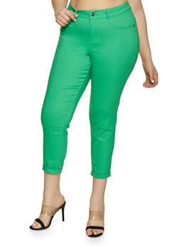 Plus Size Stretch Push Up Jeggings - 1874056570091