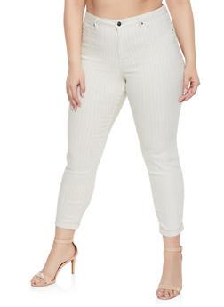 Plus Size Striped Pants - 1874056571962