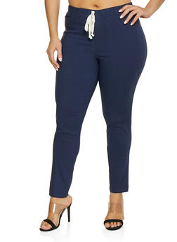 Plus Size Jeggings | 1874056572086 - NAVY - 1874056572086