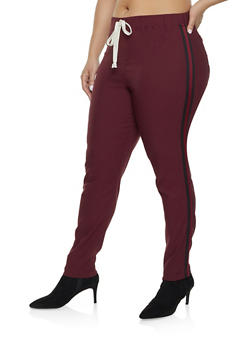 Plus Size Jeggings | 1874056572086 - WINE - 1874056572086