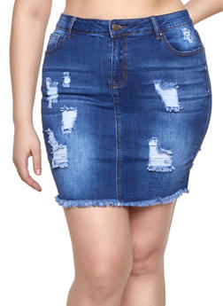 1836009e9 Plus Size Denim Skirts | Plus Size Jean Skirts | Rainbow