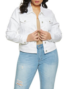 Womans Plus Size Denim Jacket