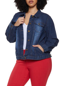 Woman Plus Size Denim Jean Jackets