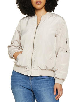 Plus Size Bomber Jacket - 1886051065100