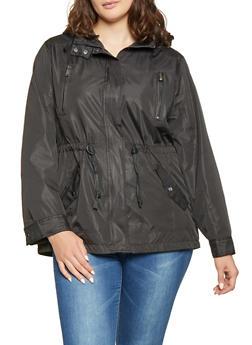 Plus Size Lightweight Anorak Jacket - 1886054260571