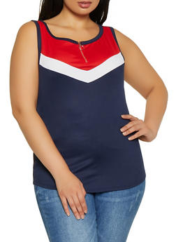 Chevron Sleeveless Tops
