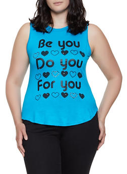 Plus Size Be You Do You For You Graphic Tank Top - 1910062702589