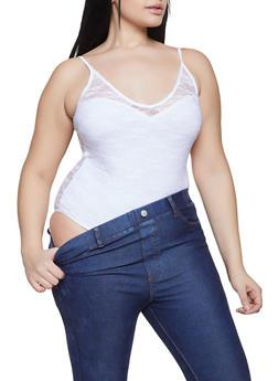 Plus Size Lace Bodysuit - 1911054260872