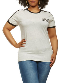 Plus Size Boss Graphic Tee - 1912033871539