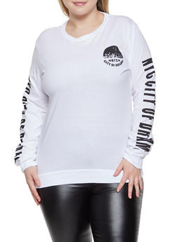 Plus Size NYC Graphic Tee - 1912033877717