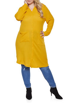 Plus Size Hooded Maxi Top - 1912038343322