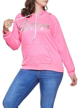 867b6dd0332 Plus Size Savage Graphic Hooded Sweatshirt - 1912038343407