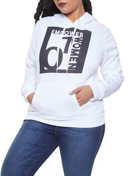 Plus Size Empower Women Graphic Sweatshirt - 1912038343414
