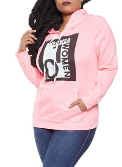 Plus Size Empower Women Graphic Sweatshirt - 1912038343414