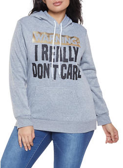 Plus Size Foil Graphic Sweatshirt - 1912038343416