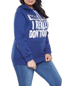 Plus Size Foil Graphic Sweatshirt - 1912038343416