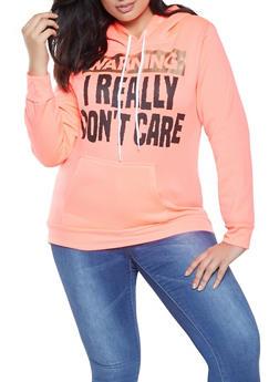 c19f4872dfe Plus Size Foil Graphic Sweatshirt - 1912038343416