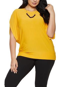 Plus Size Dolman Sleeve Top - 1912038344310