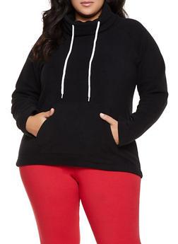 Plus Size Fleece Pullover Sweatshirt - 1912038344450