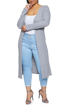 Plus Size Thermal Duster - 1912038347251