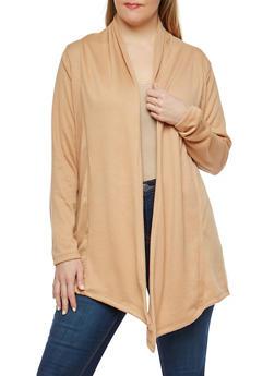 Plus Size Drape Front Cardigan - 1912038348018