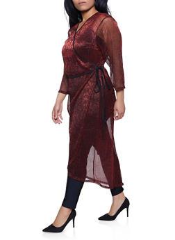 Plus Size Faux Wrap Maxi Top - 1912051064241