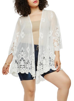 Plus Size Lace Duster - 1912051066264