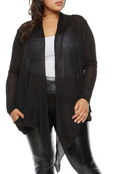 Plus Size Light Knit Cardigan - 1912054260612