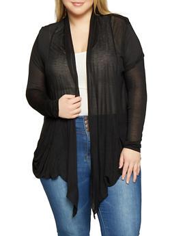 Plus Size Drape Front Cardigan - 1912054261612