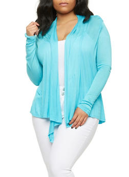 Plus Size Lightweight Cardigan - 1912054266731