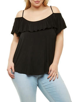 Plus Size Ruffle Off the Shoulder Top - 1912054269910