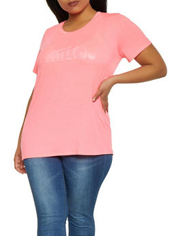 Plus Size Flawless 3D Graphic Tee - 1912058751936